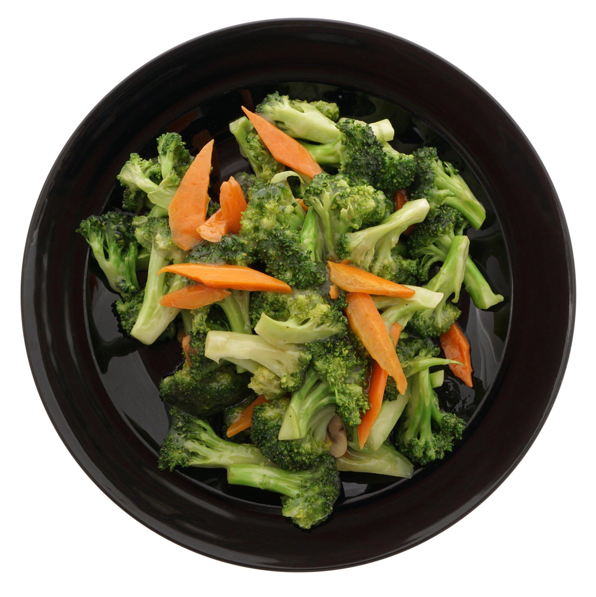 contorno di broccoli e carote