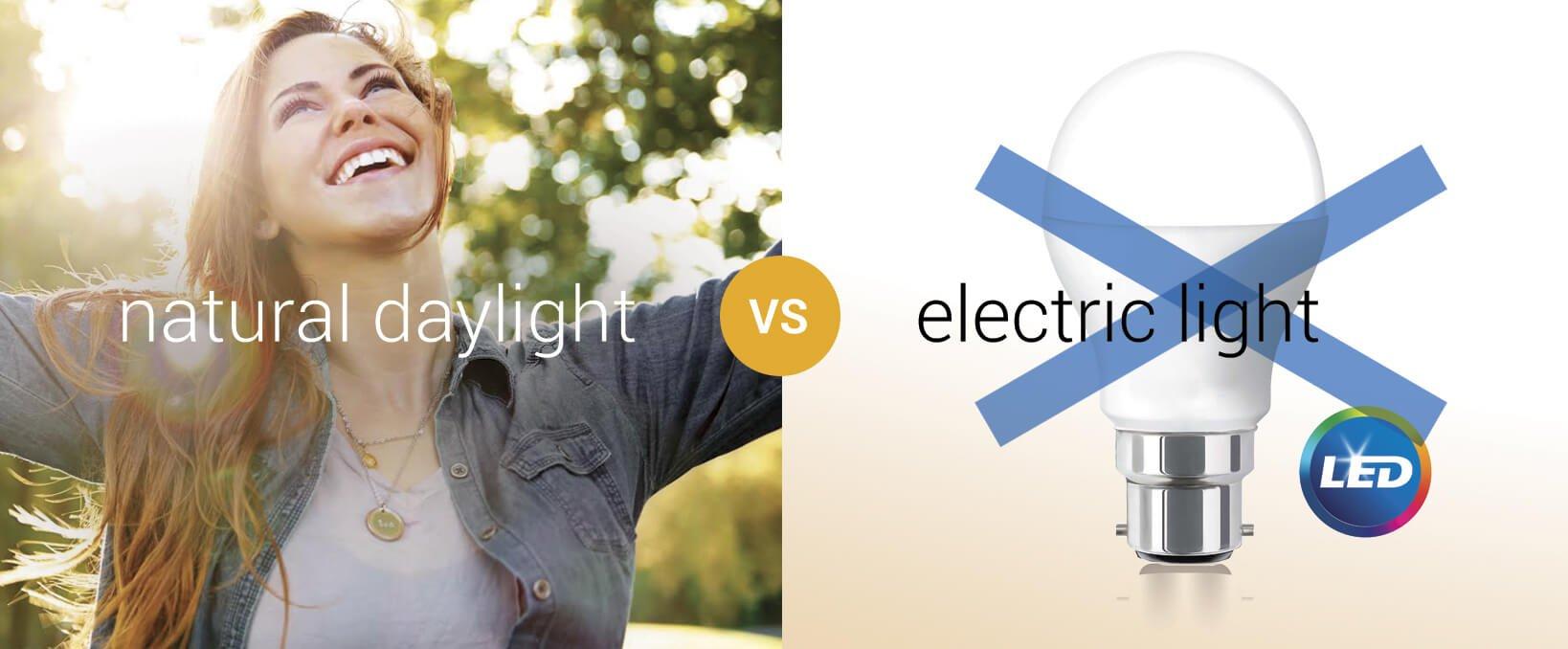 Nature daylight vs electric light