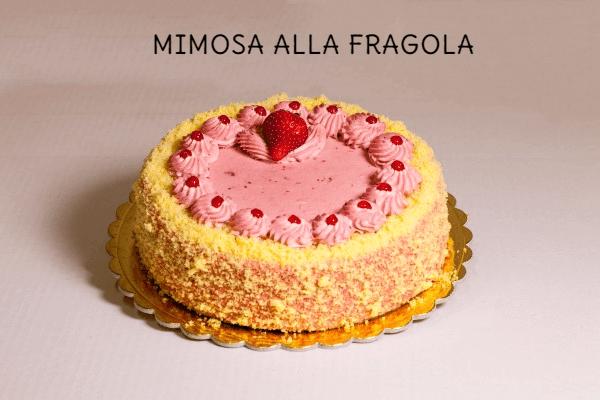 torta mimosa con crema alla fragola