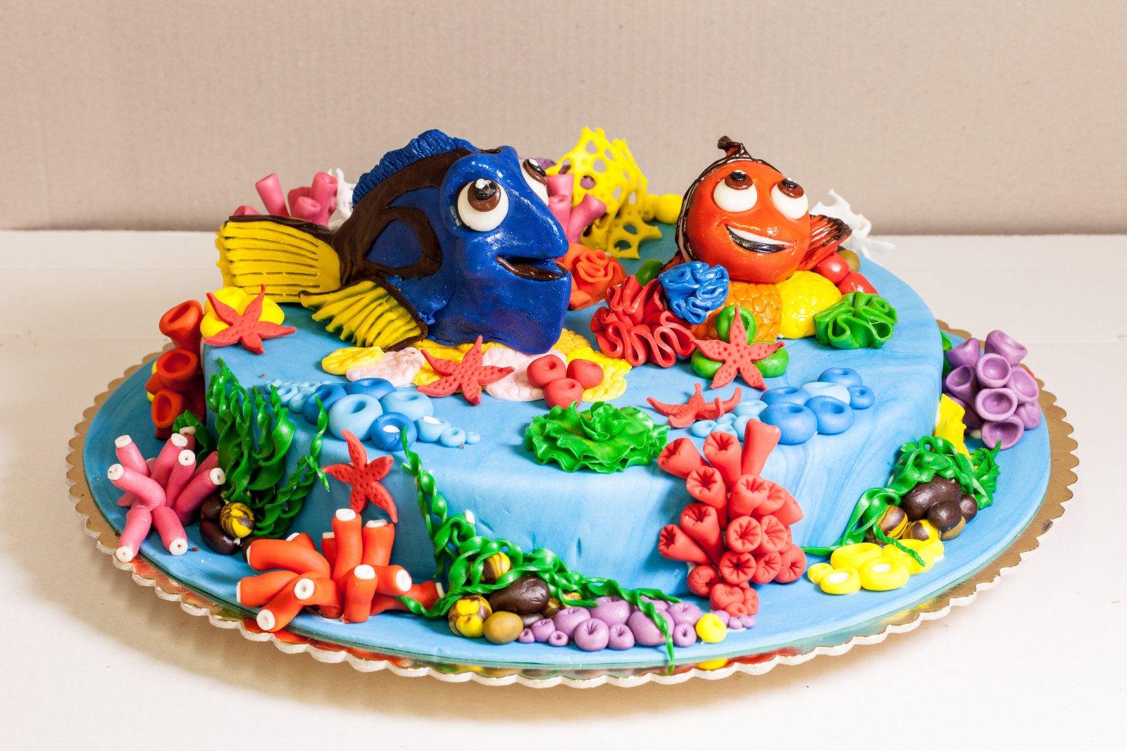 Torta con Nemo e Dori
