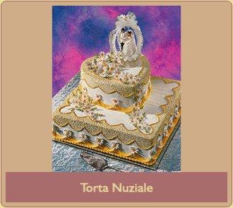 Torta nuziale quadrata a 2 piani