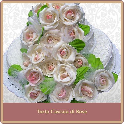 Torta cascata di rose
