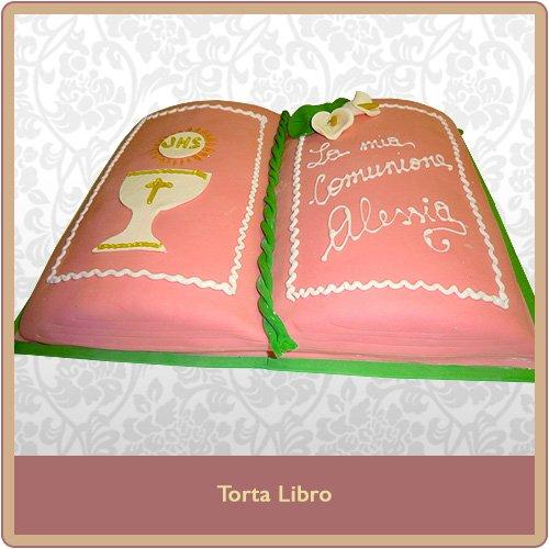 torta libro rosa