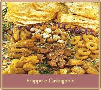 Dolci tipici di carnevale, con frappe e castagnole