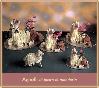 agnelli pasquali di pasta di mandorla