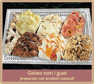 gelato in diversi gusti
