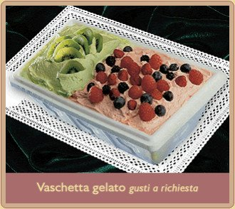vaschetta gelato frutti di bosco e kiwi