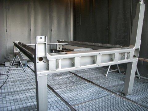 Cabina di pallinatura per macchinari alimentari