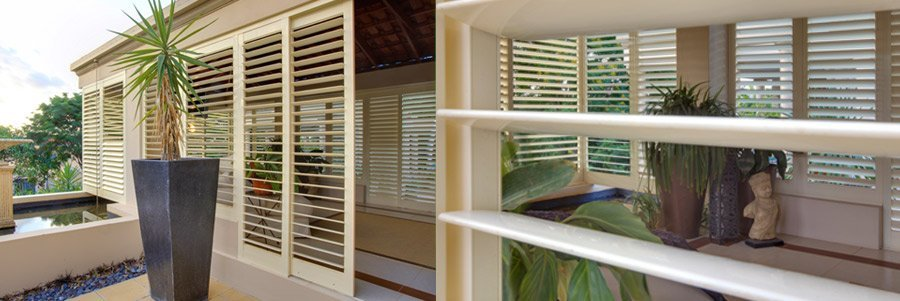 A sun-room with some of our shutters in Northshore