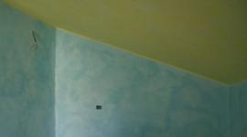 mezza parete velata azzurra