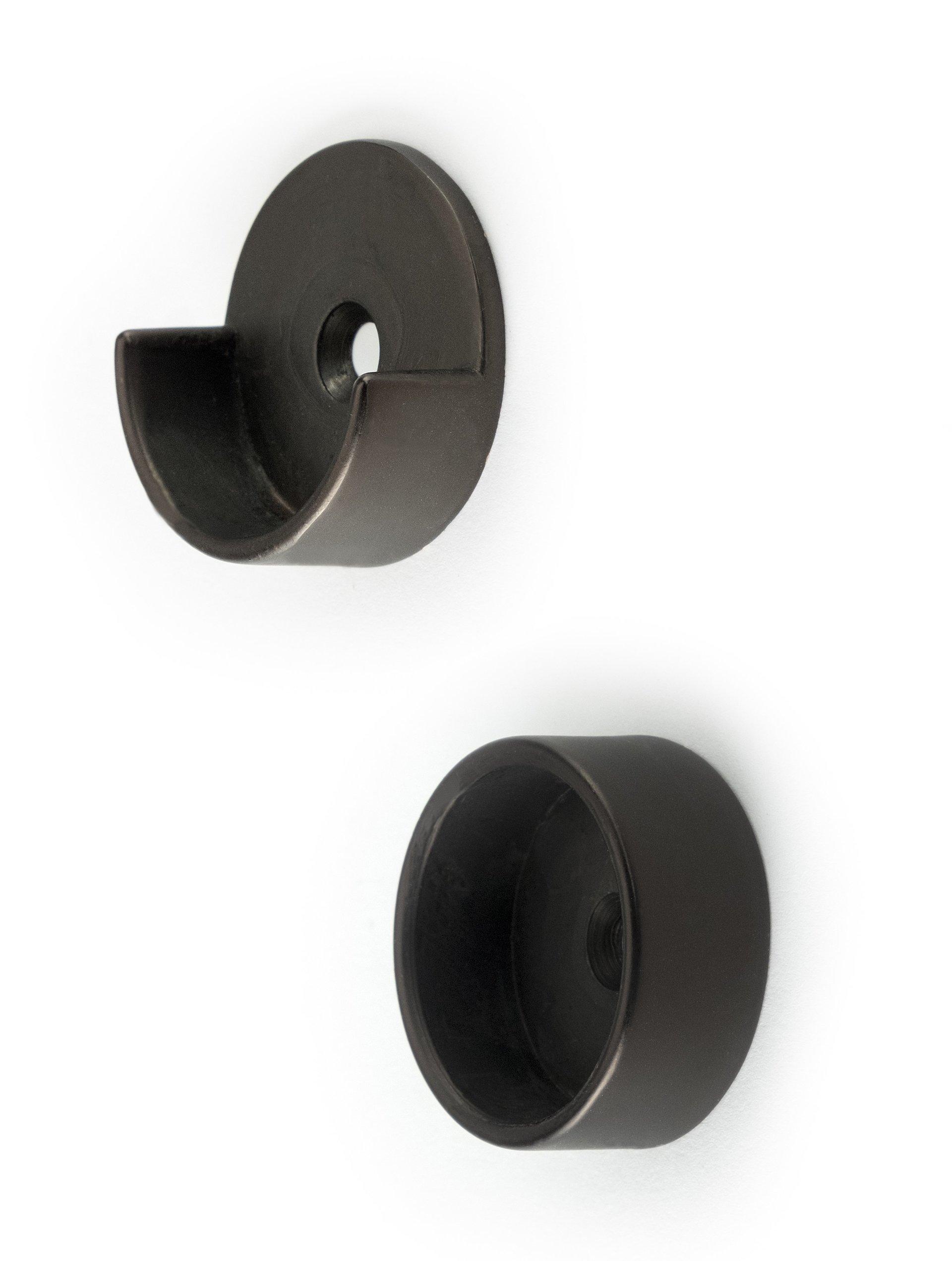 Bronze Closet Pole Cups