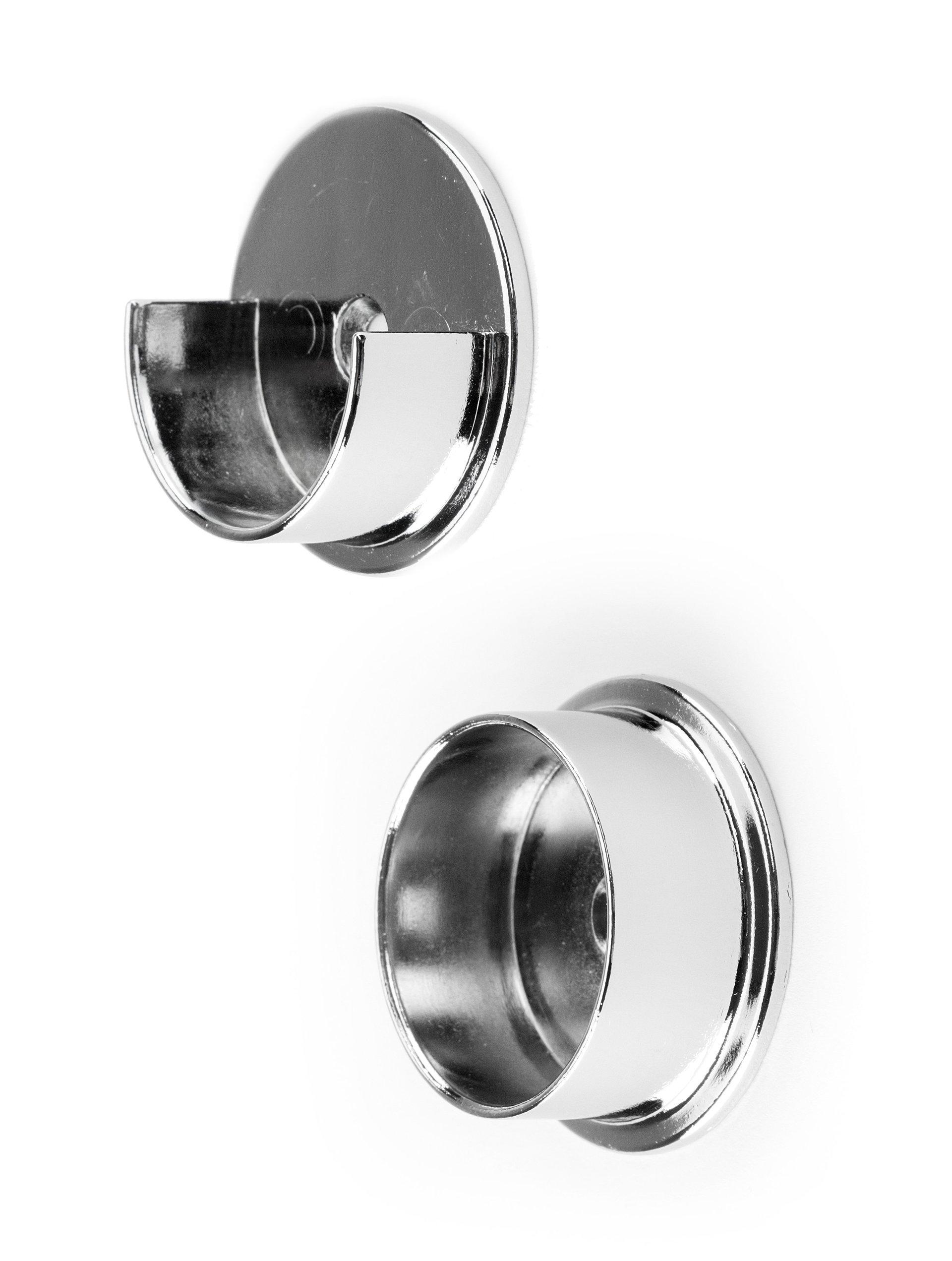 Chrome Closet Pole Cups