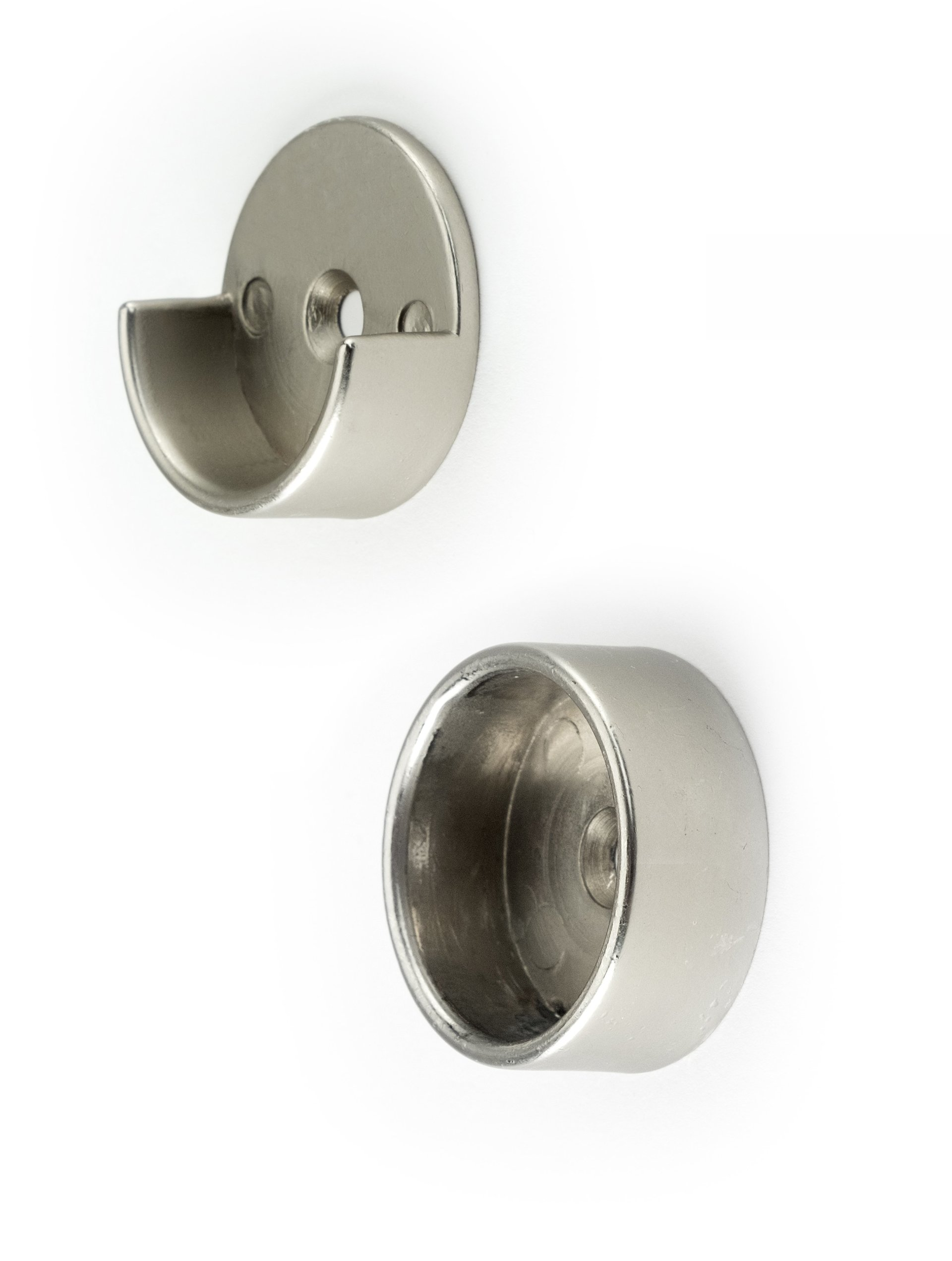Satin Nickel Closet Pole Cups
