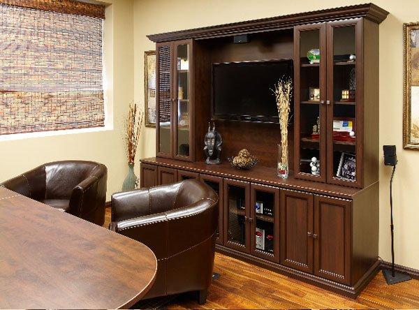 Chocolate Pear Custom Home Office
