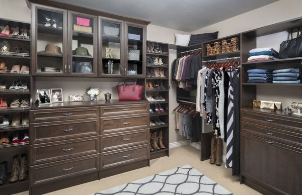 Chocolate Pear Walk In Closet System