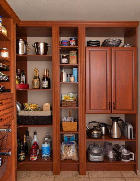 Warm Cognac Kitchen Pantry