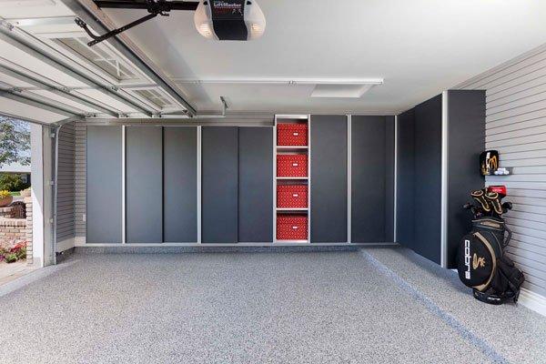 Granite Powder Coated Garage Cabinets