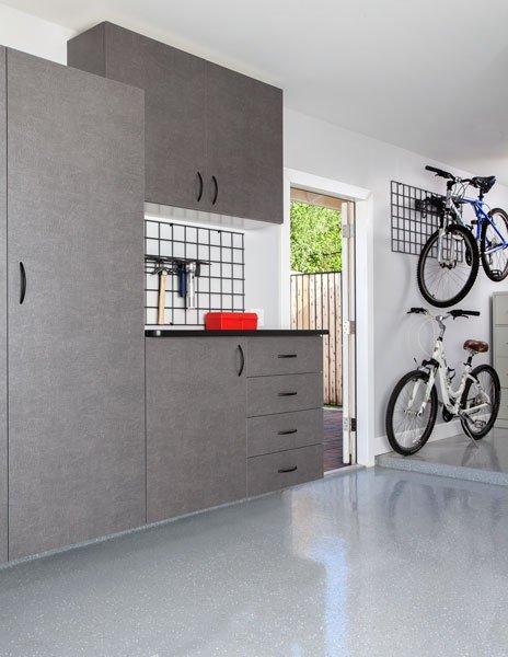 Pewter Garage Cabinets