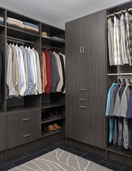 Licorice Finish Walk In Closet