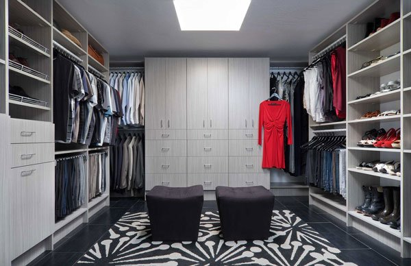 Concrete Finish Walk In Closet