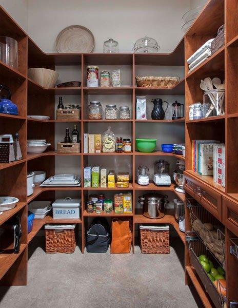 Warm Cognac Kitchen Pantry Shelving