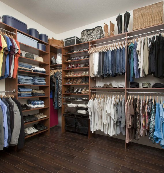 Warm Cognac Walk In Closet