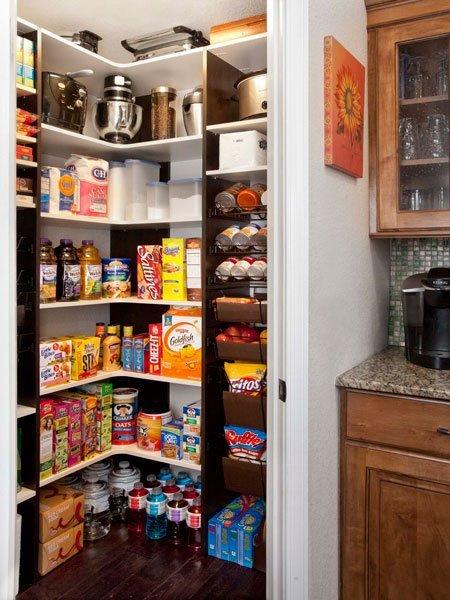 White Corner Kitchen Pantry