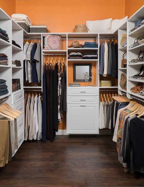 White Finish Walk In Closet