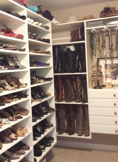 Custom Closet For Shoes, Hats, Jewelry