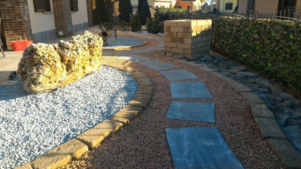 Sentiero di giardino in pietra