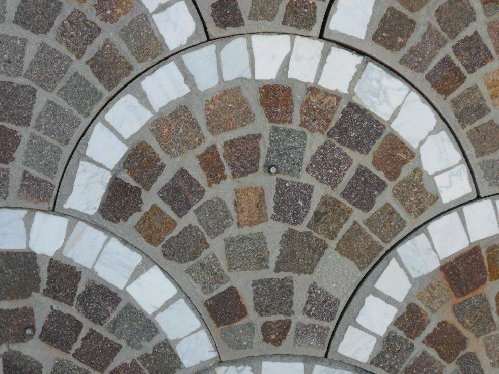 Particolare di pavimento in pietra