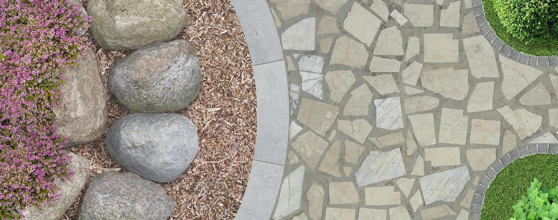 pavimento in porfido irregolare