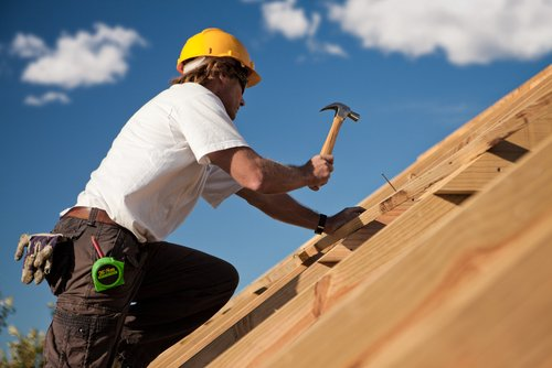 One of our construction services team at work in Kingman, AZ