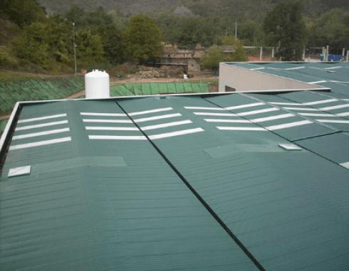 Realizzazione tetto industriale