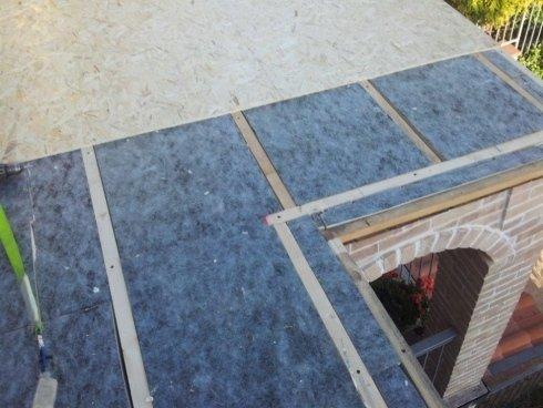 Realizzazione del tetto del gazebo