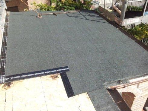 Particolare della realizzazione del tetto del gazebo