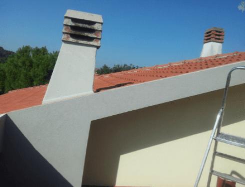 Particolare del tetto riparato