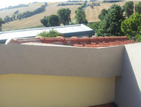 Particolare del tetto dopo la manutenzione