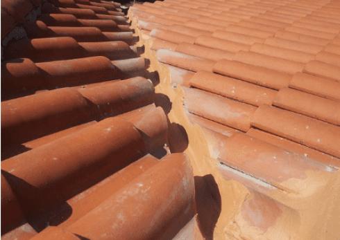 Altro particolare del tetto dopo la manutenzione