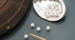 perle naturali, perle bianche