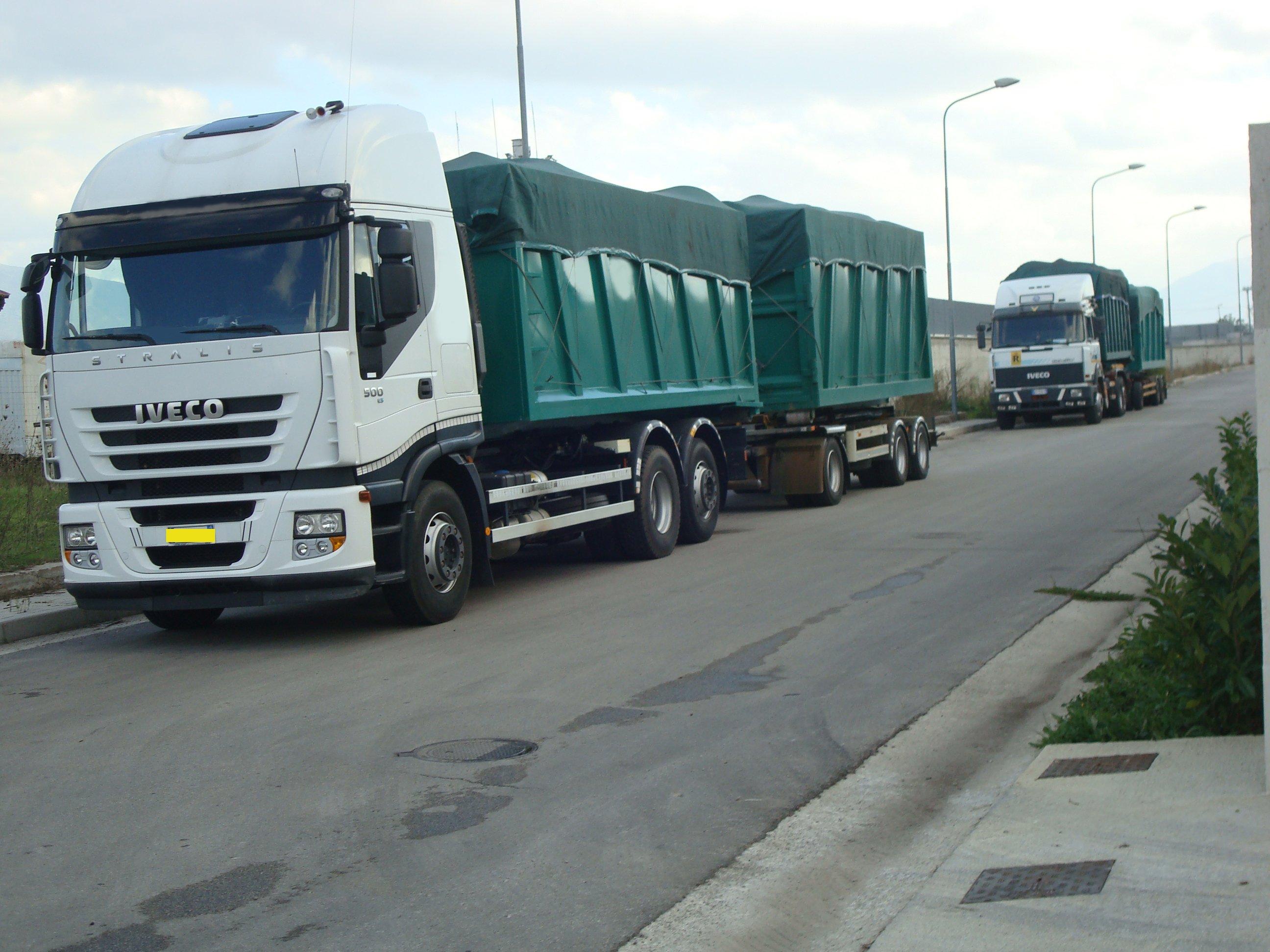 automezzi raccolta rifiuti RAf
