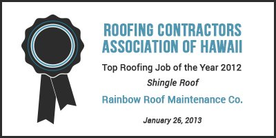 Roofing award