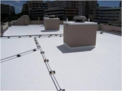 Roof with a coating