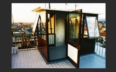 veranda in alluminio per attico