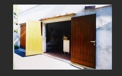 portone garage a doghe verniciato