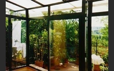 veranda realizzata in alluminio