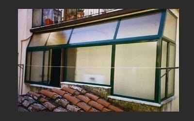 chiusura terrazzo con veranda in alluminio su misura