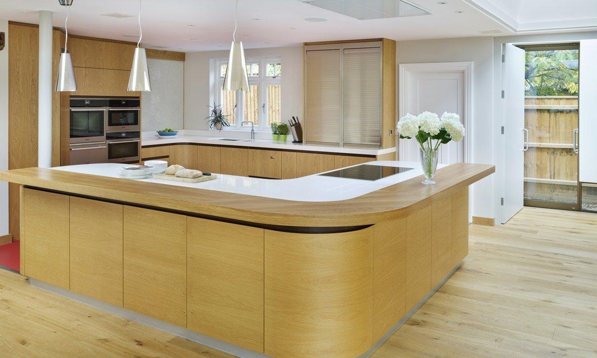 L shape kitchen unit