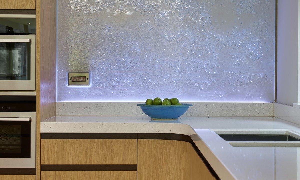 fruit bowl on a modern kitchen worktop