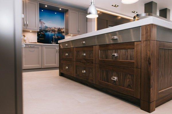 Modern wood effect kitchen